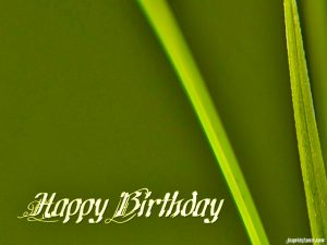 birthday green background