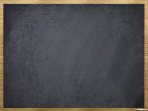 Blackboard Background Wooden Frame