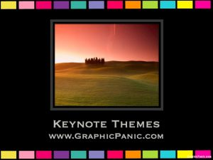 colorful border keynote themes