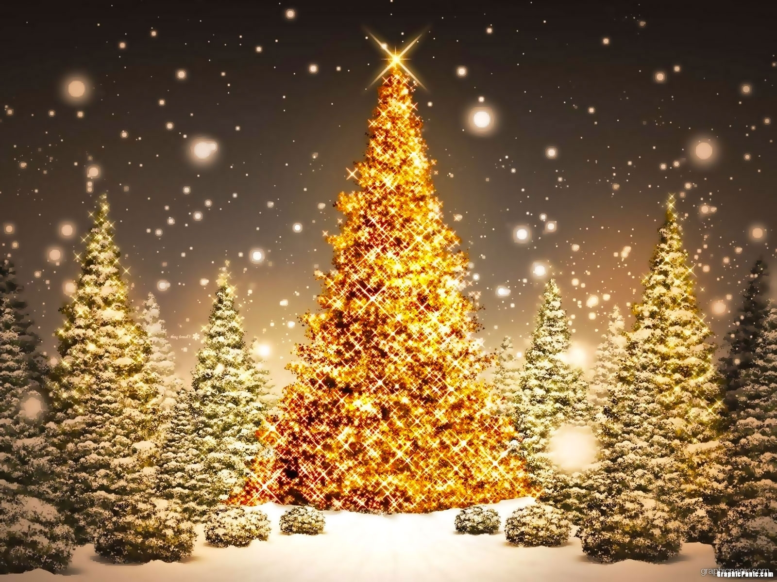gold christmas tree wallpaper - photo #6