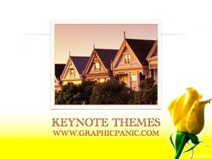 yellow flower keynote themes