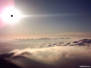 above the cloud background