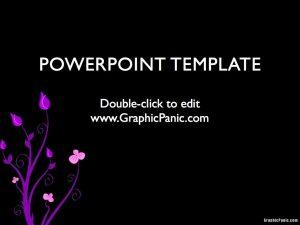 artistic presentation powerpoint template