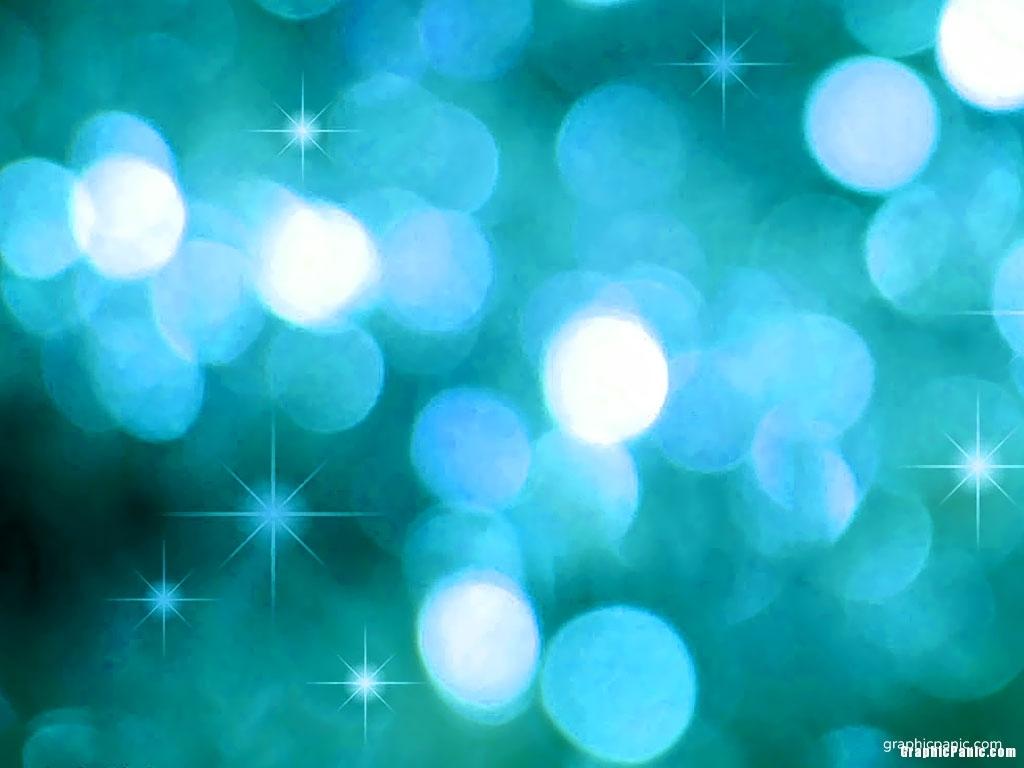 blue sparkle powerpoint slide