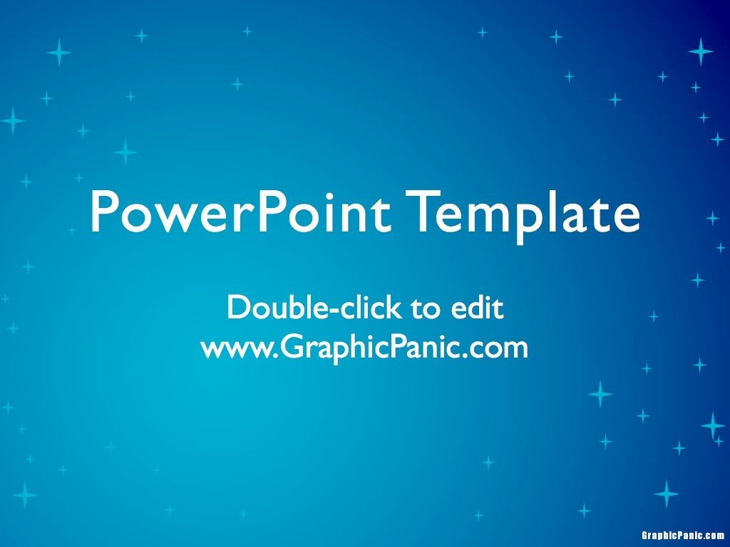 Blue Star Background PowerPoint Template