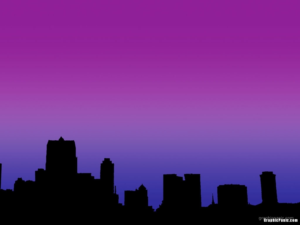 city night silhouette background