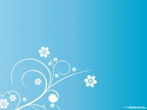 flower with blue background