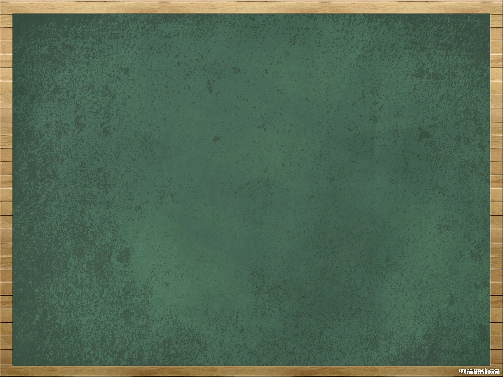 Green Chalkboard Background Wooden Frame