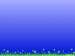 green grass background and blue sky