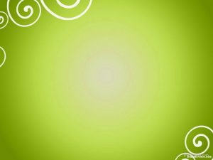 green spiral ornament powerpoint background