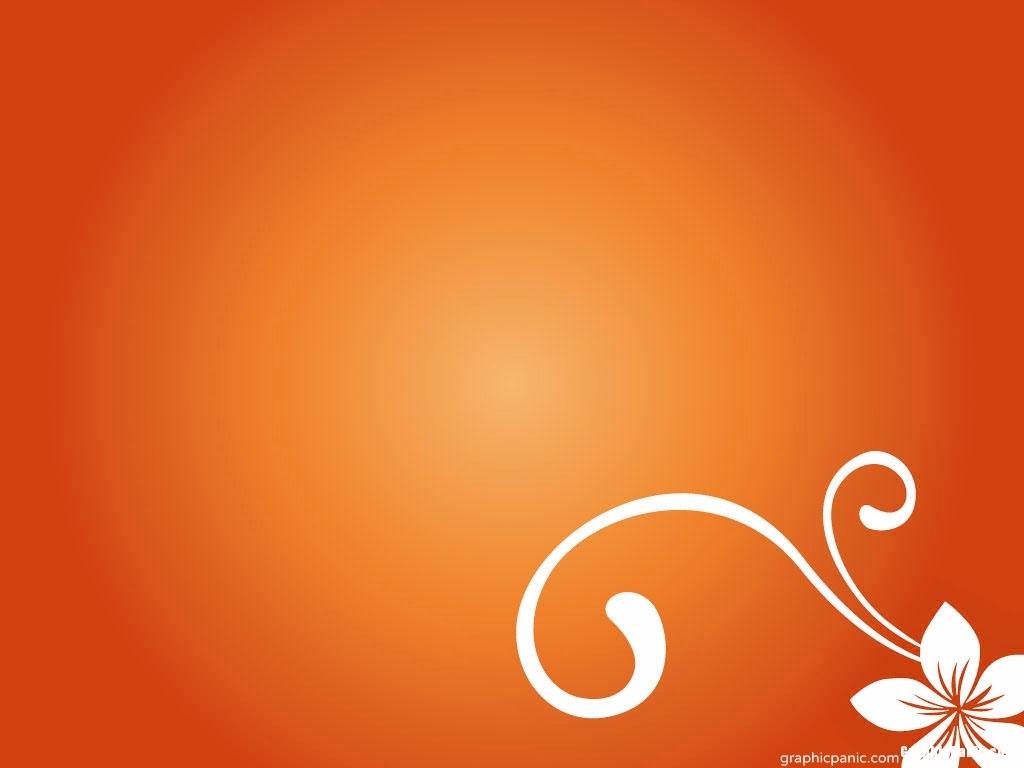 orange background powerpoint design