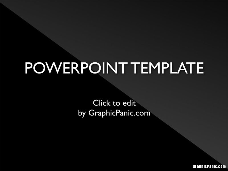 shiny black powerpoint template