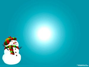 snowman christmas powerpoint background