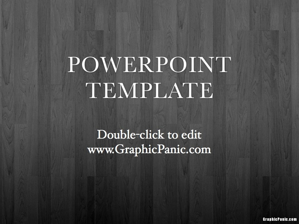 Wood Background PowerPoint Template