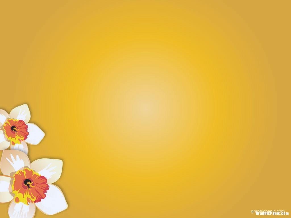 yellow flower powerpoint background